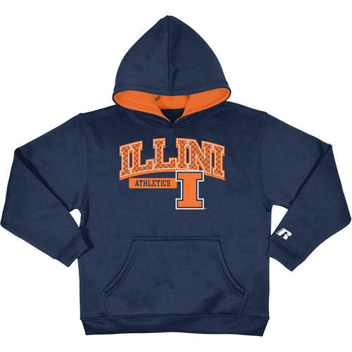 Russell NCAA Illinois Fighting Illini, Boys Pullover Fleece Hood