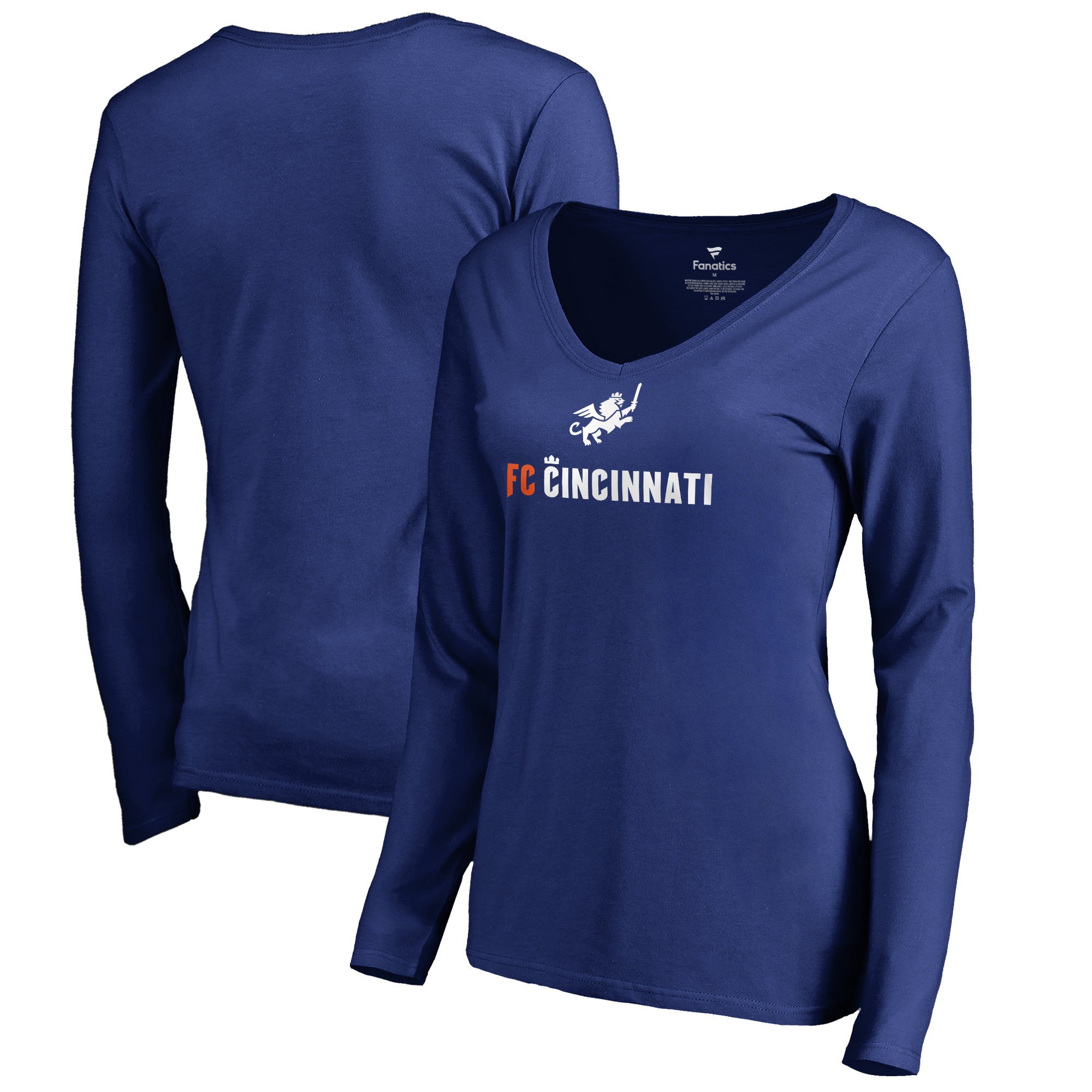 FC Cincinnati Fanatics Branded Women's Victory Arch Long Sleeve V-Neck T-Shirt - Royal