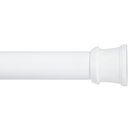 Kenney Twist & Fit No Tools Tension Shower Curtain Rod - White (White Shower Curtain Tension Rod)