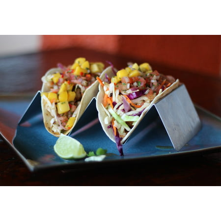 Laminated Poster Dinner Restaurant Mexican Food Seafood Tacos Fresh Poster Print 24 X 36
