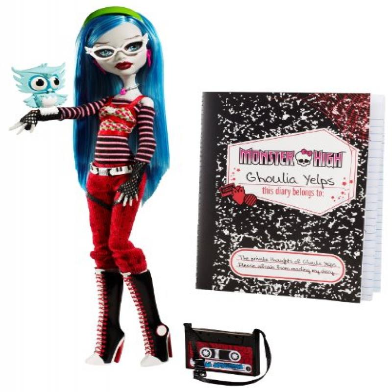 Mattel Monster High Ghoulia Yelps Doll with Pet Owl Sir H...