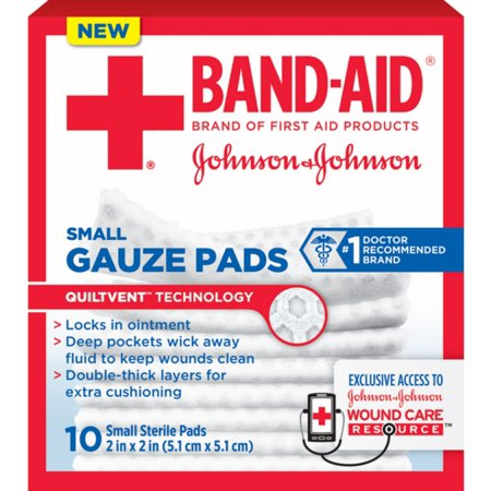 Band Aid First Aid Gauze Pads  2 In X 2 In  25 Ea  Pack Of 2