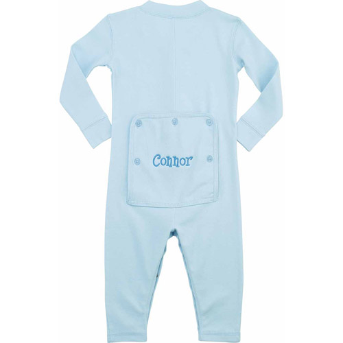 Personalized Toddler Name Long John, Light Blue