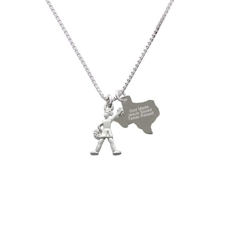 Cheerleader - Standing - Engraved Texas Raised Necklace ()