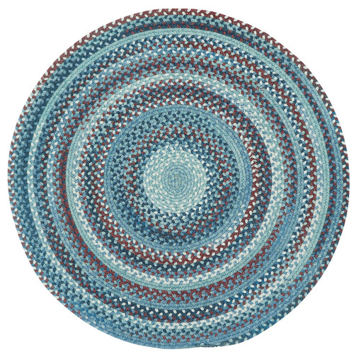 Capel Kill Devil Hill 0210 Braided Rug - Blue