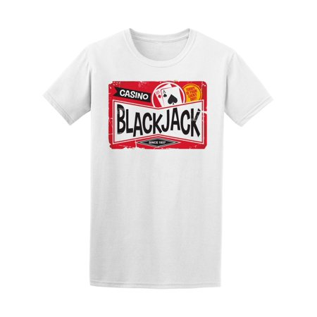 Blackjack Retro Casino Sign Tee Men's -Image by Shutterstock