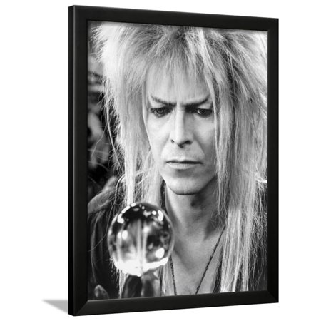 David Bowie Close Up Portrait Holding a Sphere Framed Print Wall Art By Movie Star News