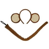 "SeasonsTrading Monkey Ears Headband & 22"" Long Tail Costume Set - Cute Party Accessory Kit, Halloween, Cosplay, Birthday, Dress Up, Gift"