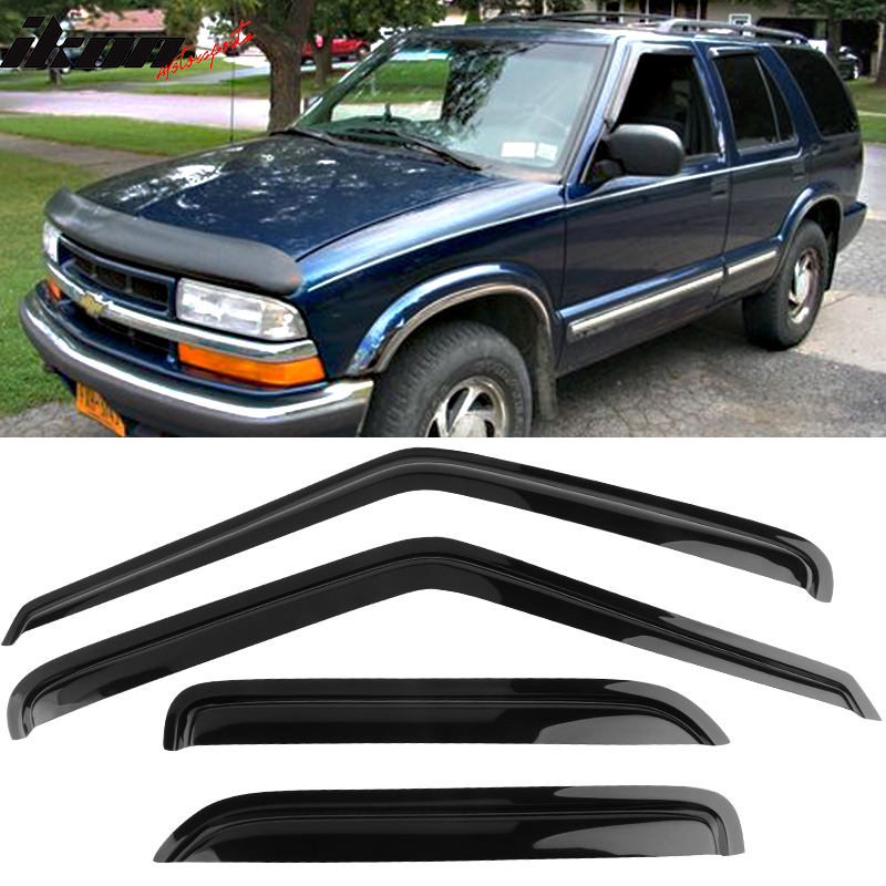 Fits 95-05 GMC S15 Jimmy Chevy S10 Blazer Acrylic Window Visors 4Pc Set