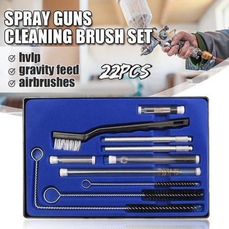 22Pcs/Set Airbrush Spray Nozzle Cleaning Brush Repair Tool Kit Needle & Brush Set Cleaner - image 11 de 12