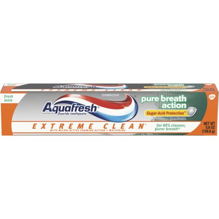 Aquafresh Extreme Clean Pure Breath Fluoride Toothpaste for Cavity Protection, 5.6 -