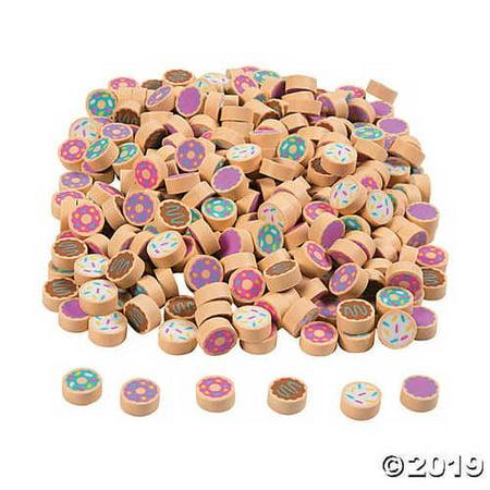 Mini Doughnut Eraser Assortment - 300 Pieces