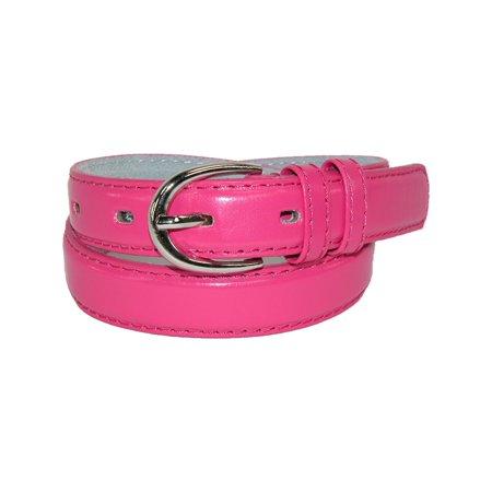 Kid's Leather 1 inch Basic Dress Belt (Pack of 2) ()
