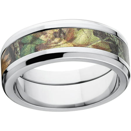 Mossy Oak New Break Up Mens Camo 8mm Stainless Steel Wedding Band