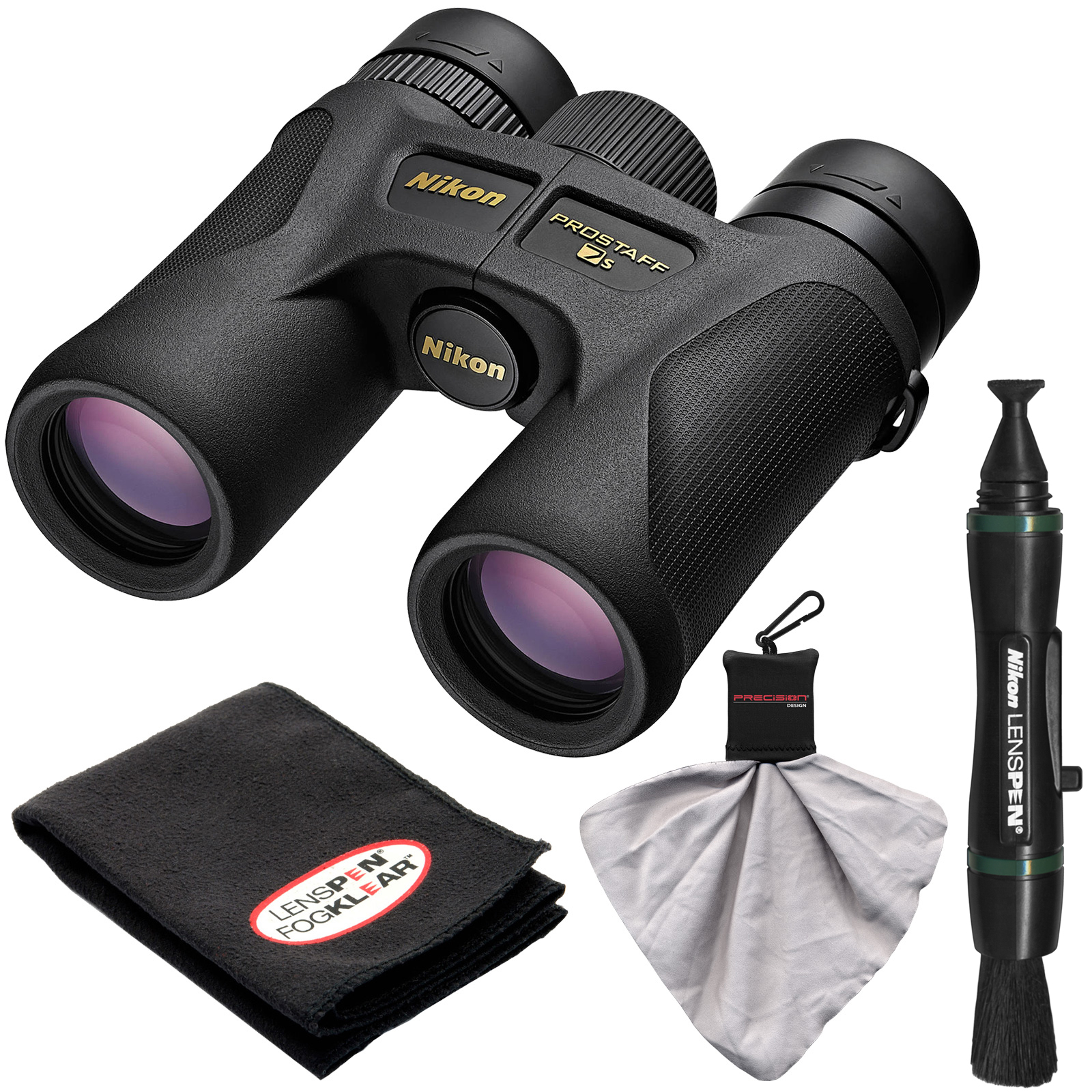 Nikon Prostaff 7S 8x30 ATB Waterproof/Fogproof Binoculars with Case   Cleaning   Accessory Kit