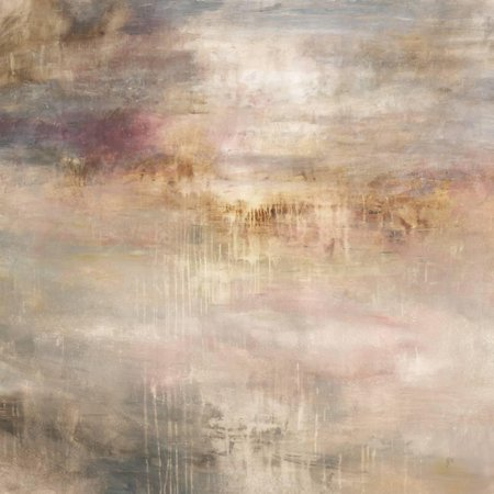Abstract Marble - Marble Fog Transitional Beige Neutral Abstract Art Print Wall Art By Jodi Maas