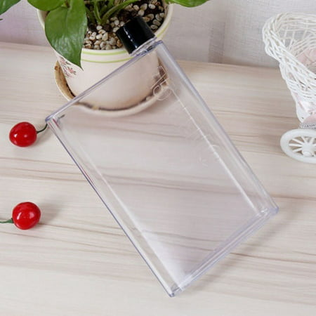A5 Memobottle Clear Book Portable Paper Pad Water Bottle Flat Drinks Cup Kettle