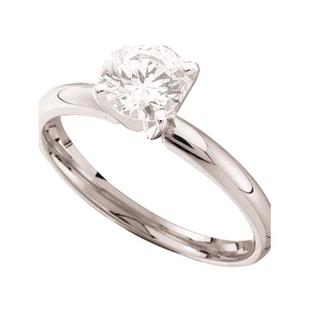 14kt White Gold Womens Round Diamond Solitaire Bridal Wedding Engagement Ring 7/8 Cttw - image 1 de 1