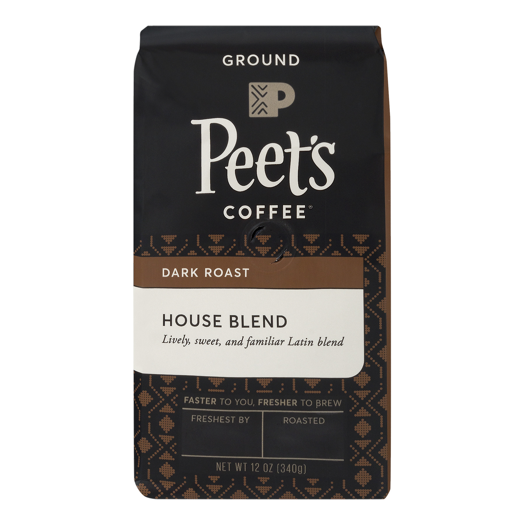 Peet's Coffee® House Blend Dark Roast Ground Coffee 12 oz. Stand-Up Bag
