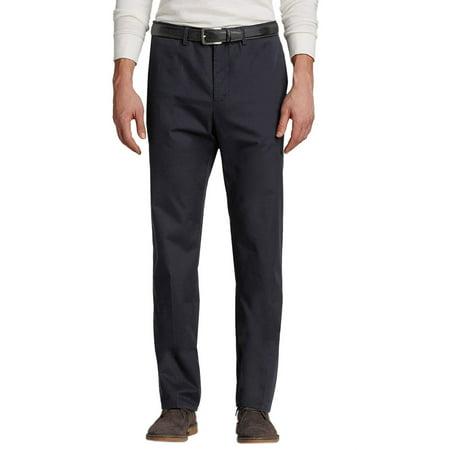 Bloomingdales Mens Cotton Flat Front Chinos Pants True Navy Blue 32 X 32
