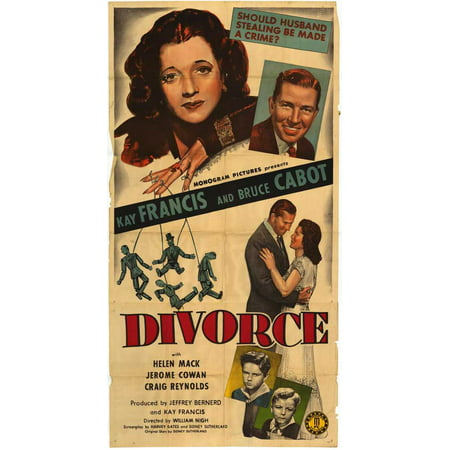 Framed Art For Your Wall Divorce (1945) Laminated Movie 10x13 Frame