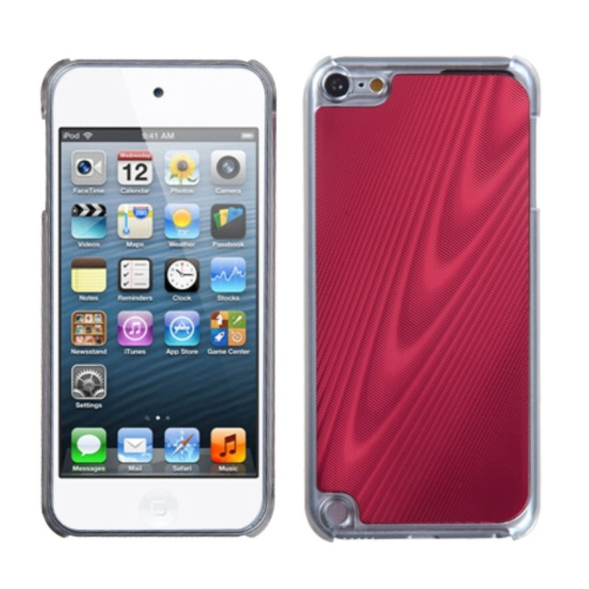 Insten Red Cosmo Back Case for iPod touch (5 5G 5th 6 6G 6th Gen)