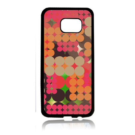 Retro Dots 80s Print Design Black Rubber Thin Case Cover for the Samsung Galaxy s7 - Samsung Galaxys7 Accessories - s7 Phone Case