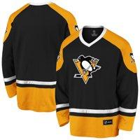 Men's Fanatics Branded Black/Gold Pittsburgh Penguins Rival Blue Line Long Sleeve Jersey