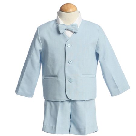Boys Light Blue Eton Short Formal Ring Bearer Easter Suit 12M-4T - Ring Bearer Outfits