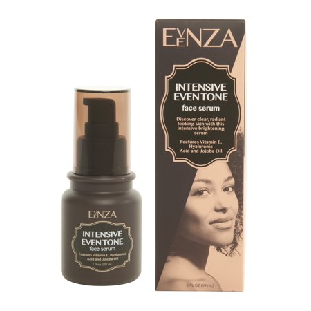 Evenza Intensive Age Spot Serum for Even Tone Skin with Hyaluronic Acid, Vitamin E, and Jojoba Oil. 2oz bottle.