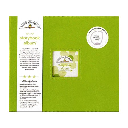 Stockbook Album - Doodlebug Album Storybook 12x12 Limeade