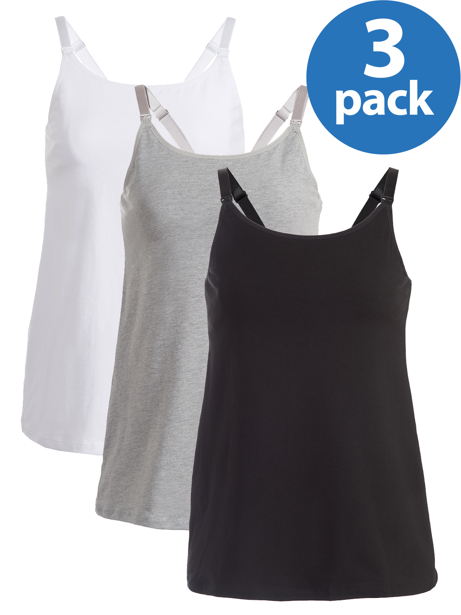 Loving Moments by Leading Lady Maternity Nursing Cami with Built-in Shelf Bra,