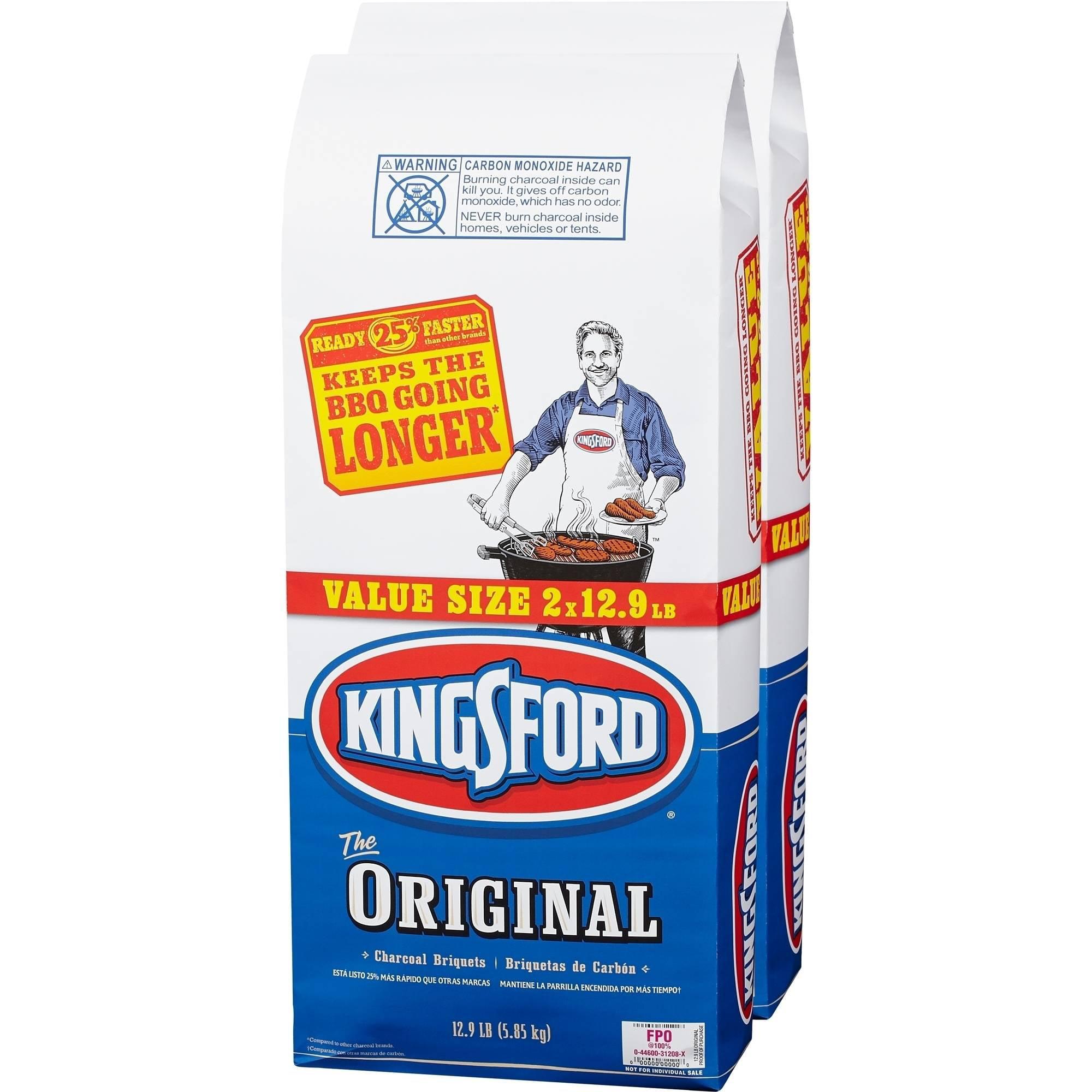 Kingsford Charcoal Briquets, Two 12.9 lb Bags