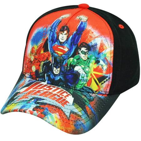 Justice League Superman Batman Flash Green Lantern Super Heroes Snapback Hat Cap](Joker Hat Batman)