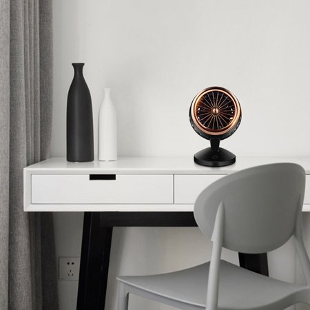 Mute Convection Air Circulation Desktop Mini Fan Portable Small Fan Double Leaf Turbo Fan Portable Durable - image 5 of 5