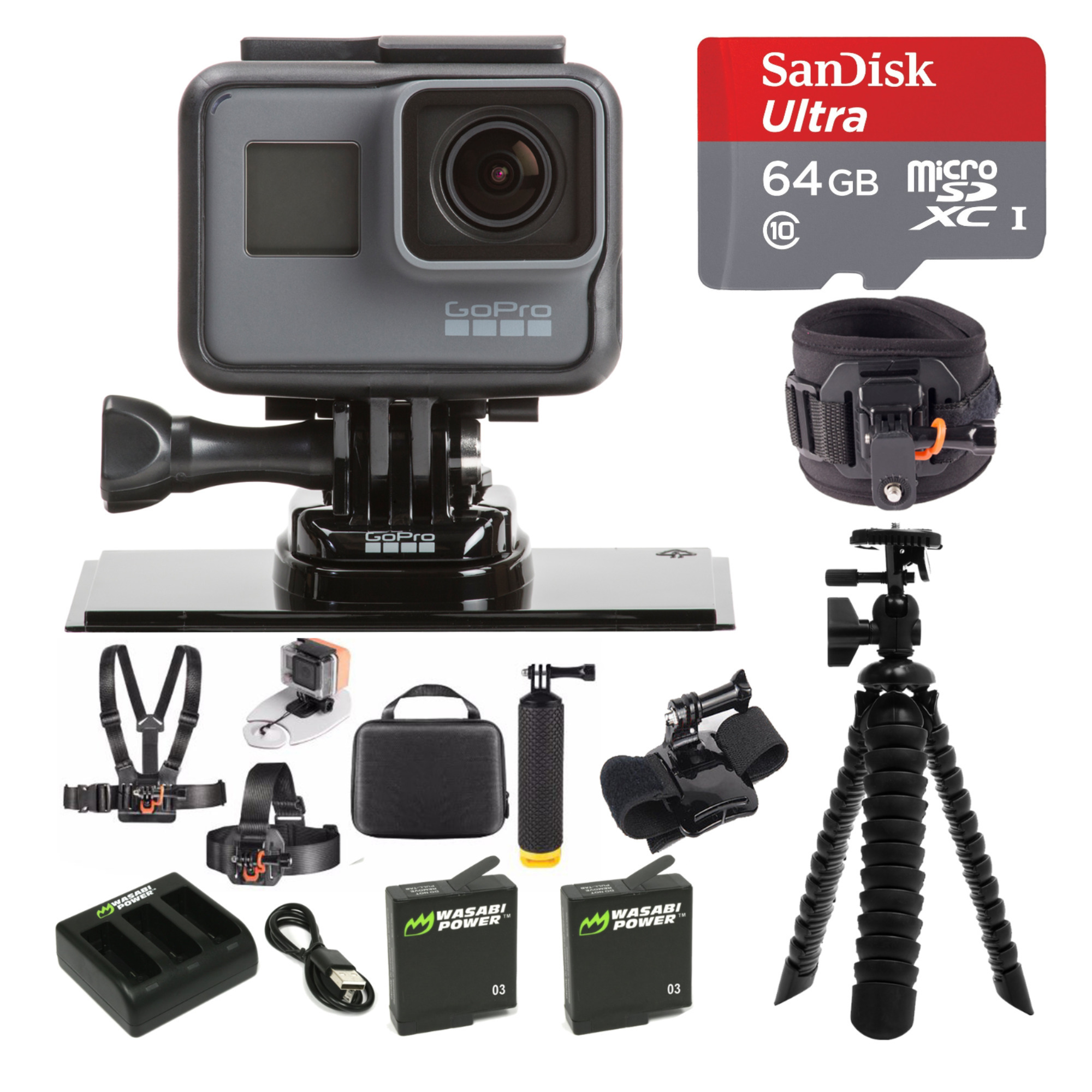 GoPro Hero5 4K Ultra HD Action Camera Outdoor Water Sport All-in-One Bundle