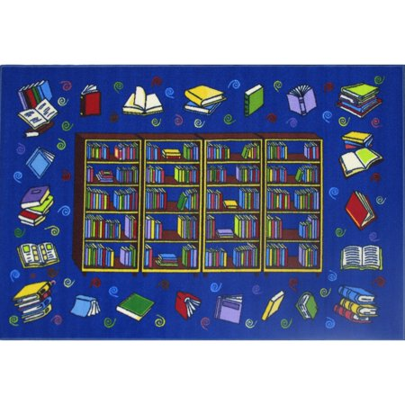 Reading Time Blue Accent Rug - Reading Rug
