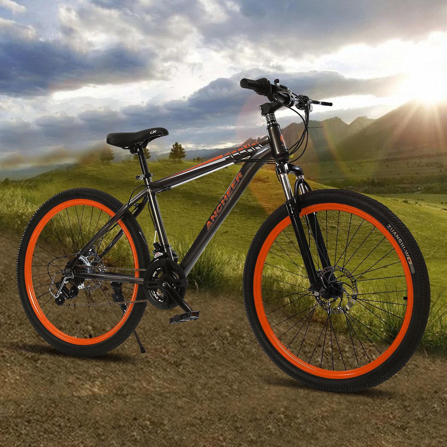 "27.5""Men's Bike 21-Speed Mountain Bike Hybrid Bicycle  Double Disc Brakes"