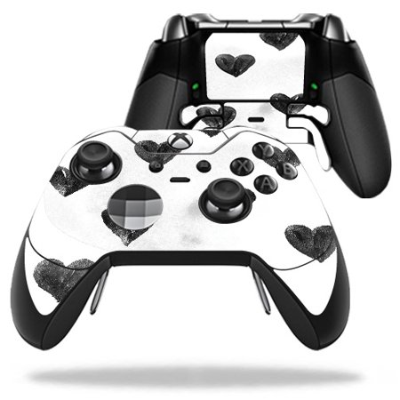 Skin For Microsoft Xbox One Elite Controller - Ink Hearts | Protective, Durable, and Unique Vinyl Decal wrap cover | Easy To Apply, Remove, and Change