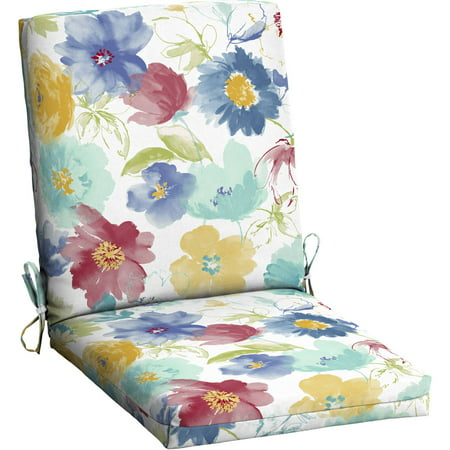 Mainstays Outdoor Patio Dining Chair Cushion Multiple Patterns