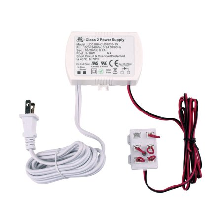 Image of Alico 18 Watt 700mA Driver with Cord and Plug and 6 Port Harness