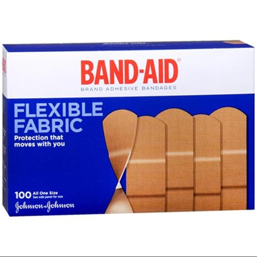 BAND-AID Flexible Fabric All One Size Adhesive Bandages 100 Each (Pack of 6)