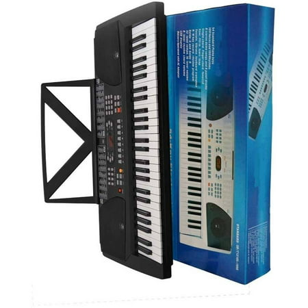 directly cheap keyboard 54 key electronic digital piano with notes holder and ac adapter black. Black Bedroom Furniture Sets. Home Design Ideas