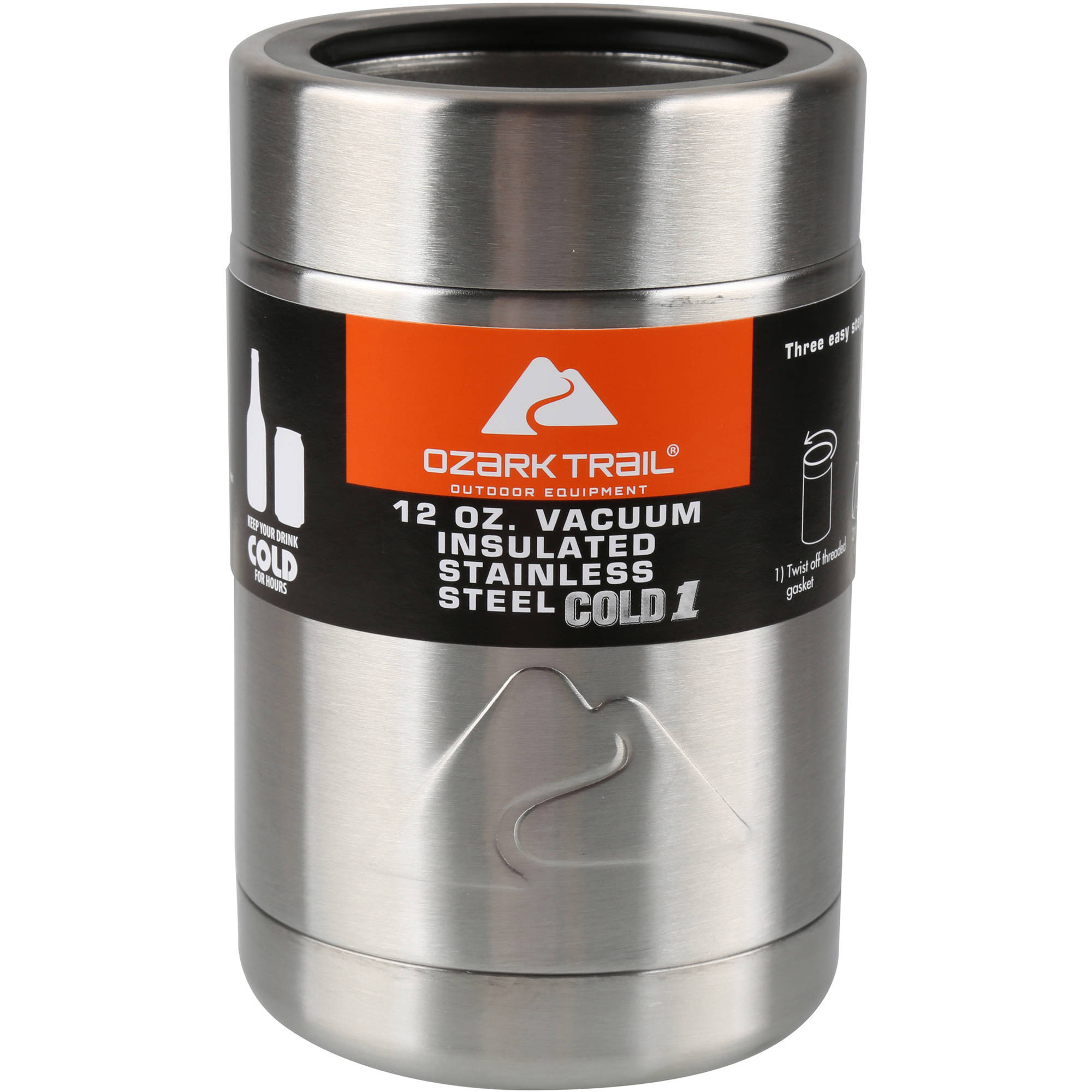 Ozark Trail 12-Ounce Vacuum Insulated Can Cooler with Metal Gasket