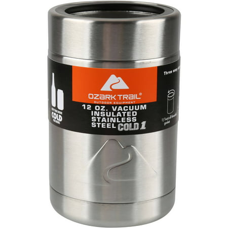4-Pack Ozark Trail 12-Ounce Vacuum Insulated Can Cooler with Metal Gasket