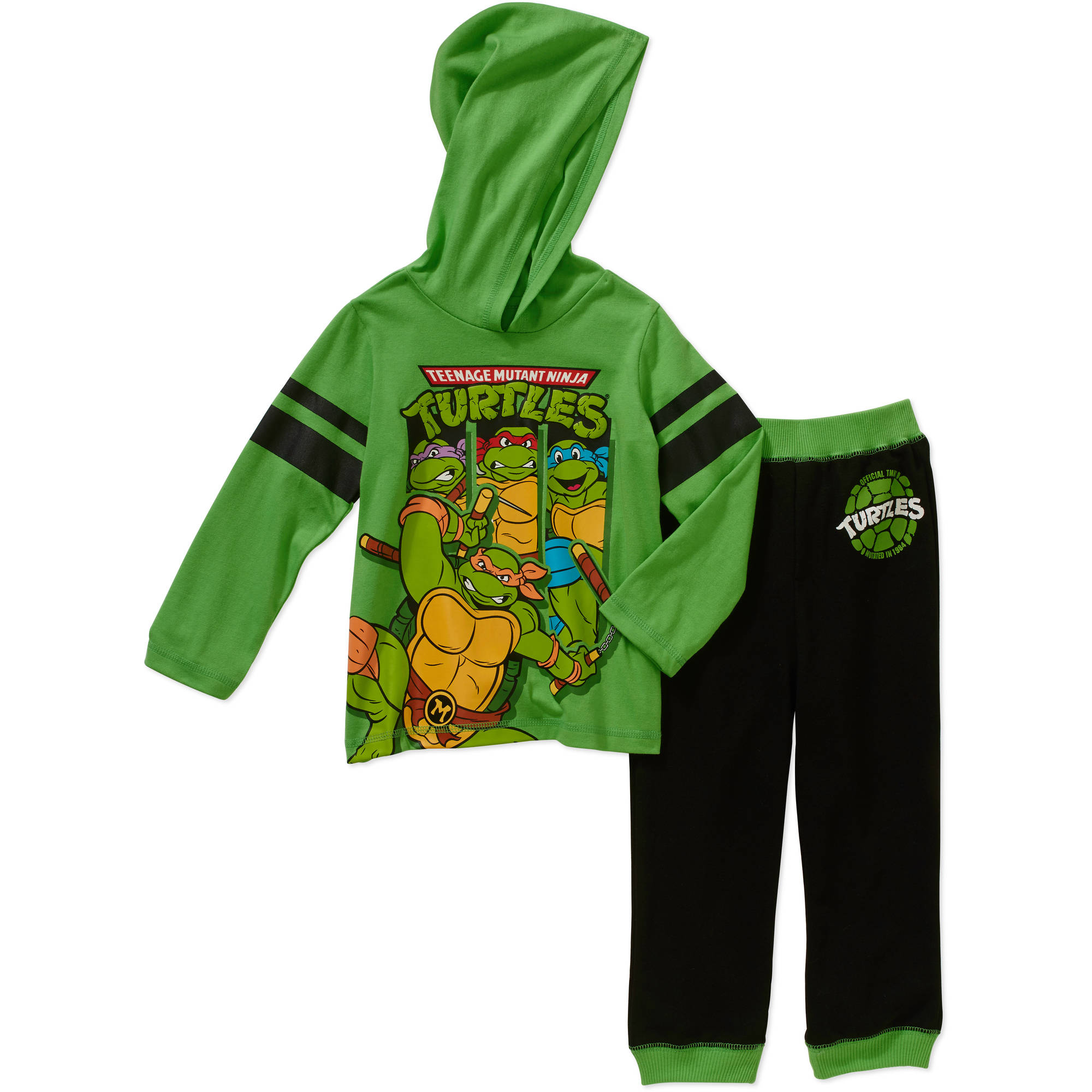 Teenage Mutant Ninja Turtles Toddler Boy Hangdown Tee and French Terry Jogger Pants Outfit Set