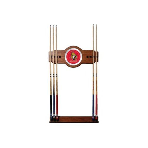 Trademark Global NHL 2 Piece Wood and Mirror Wall Cue Rack