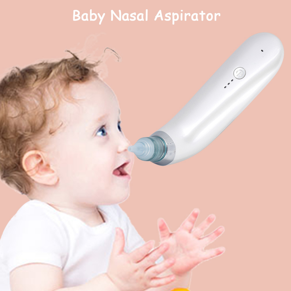 HURRISE Baby Electric Nasal Aspirator Nose Cleaning Sucker with Replaceable Suction Nozzle