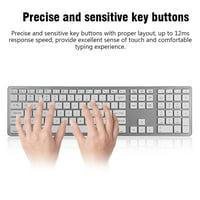 FAGINEY Universal Multi-Pairing Wireless Bluetooth Keyboard 104 Keys for PC/ Laptop/ Tablet, Keyboard for Laptop, Wireless Bluetooth Keyboard