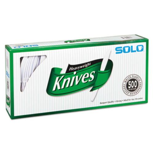 Solo Heavyweight Plastic Knives - 1 Piece[s] - 500/carton - Polystyrene - White (827271)